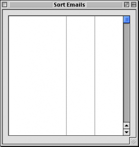 Countemails initial window