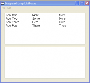 Basic Drag and Drop Listboxes